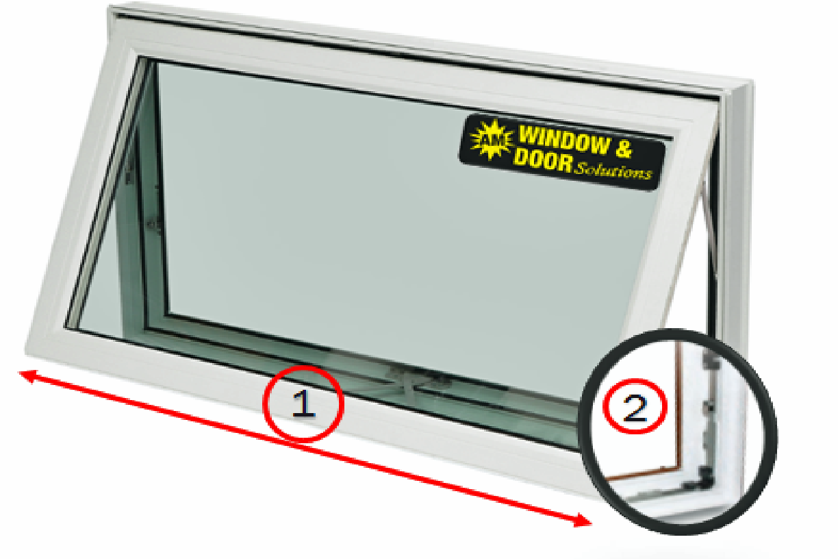 Staged Awning Window Diagram